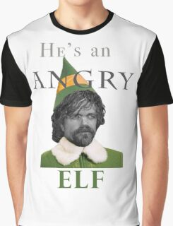 Angry Elf  Graphic T-Shirt