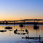 The Wreck - Stockton NSW Australia by Bev Woodman