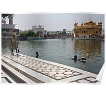 Cleaning the sarovar inside the Golden temple resorvoir Poster