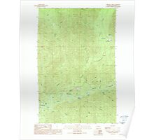USGS Topo Map Washington State WA Christmas Creek 240519 1990 24000 Poster