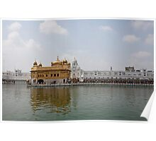 Causeway and Darbar Sahib inside Golden Temple Poster