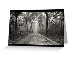 ~ a foggy beginning ~ Greeting Card