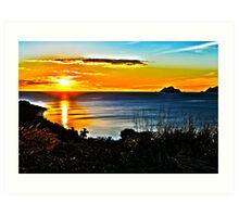 HDR Fijian Sunset Art Print