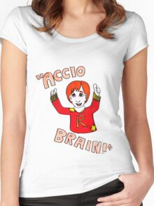 Accio Brain! -Ron Weasley Women's Fitted Scoop T-Shirt