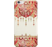 Royal Red Art Deco Double Drop iPhone Case/Skin