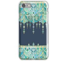 Art Deco Double Drop in Blues and Greens iPhone Case/Skin