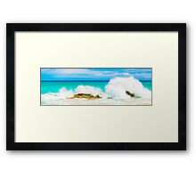 Aqua Splash Framed Print