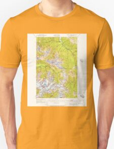 USGS Topo Map Washington State WA Mount Olympus 242513 1935 62500 Unisex T-Shirt