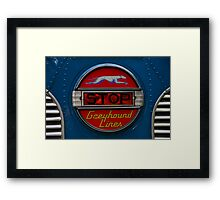GMC PD 3751 Greyhound Bus stop sign (1947) Framed Print