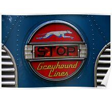 GMC PD 3751 Greyhound Bus stop sign (1947) Poster
