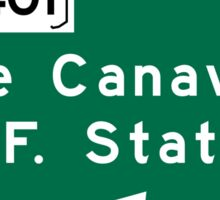 Cape Canaveral, Road Sign, Florida, USA Sticker