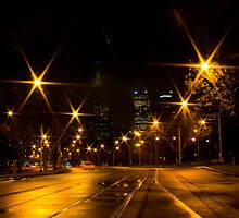 St Kilda Road, Melbourne by Sherene Clow