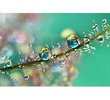 Smokey Rainbow Drops Photographic Print