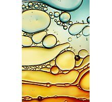 Fire & Ice Bubble Abstract Photographic Print