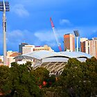 Adelaide Oval lights by Dean Wiles