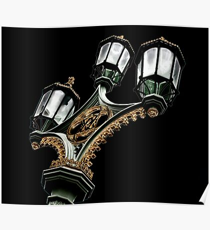 Lamps on Westminister Bridge Poster