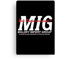 You know our Name MIG Canvas Print