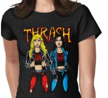 Thrash Metal Chicks Womens Fitted T-Shirt