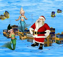 Santa and the Mermaids by LoneAngel