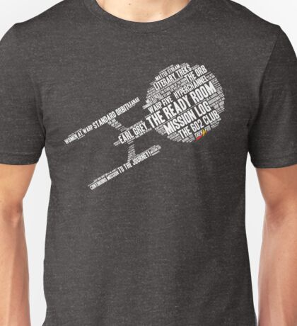 Trek.fm Word Cloud (Dark) T-Shirt