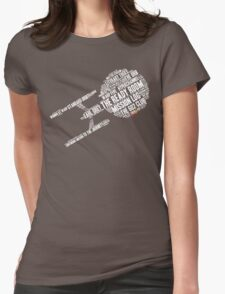 Trek.fm Word Cloud (Dark) Womens Fitted T-Shirt