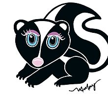Rosewater Skunk by artandrhyme