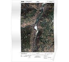 USGS Topo Map Washington State WA Blue Goat Mountain 20110503 TM Poster