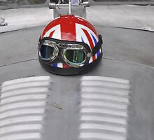 Helmet on Jaguar Vicarage Special (1960) by Frits Klijn (klijnfoto.nl)