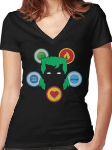 The Power Is Yours (black) Women's Fitted V-Neck T-Shirt
