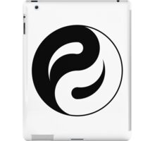 yin yang in process iPad Case/Skin