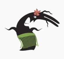 Funny hula dancing grass skirt monster One Piece - Short Sleeve