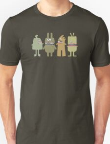 Funny green smiling teeth monsters aliens T-Shirt