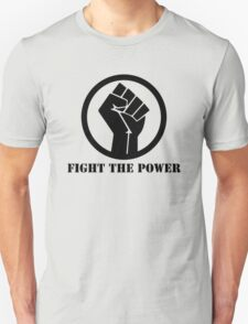 FIGHT THE POWER BLACK POWER RAISED FIST T-Shirt