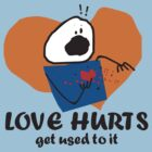 funny love hurts get used to it stick figure by BigMRanch