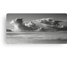Thunderheads over a sea of clouds  Canvas Print