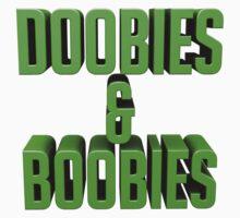 DOOBIES & BOOBIES - green. by LewisJamesMuzzy