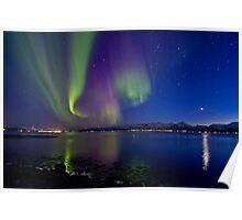 Aurora Borealis at Sortland strait Poster