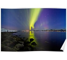 Aurora Borealis at the beach II Poster