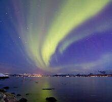 Aurora Borealis toward Stokmarknes by Frank Olsen