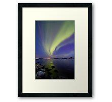 Aurora Borealis toward Stokmarknes Framed Print