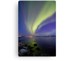 Aurora Borealis toward Stokmarknes Canvas Print