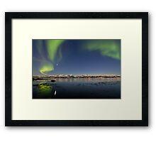 Auroras reflections Framed Print