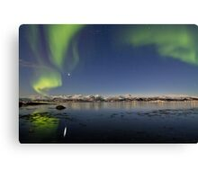 Auroras reflections Canvas Print