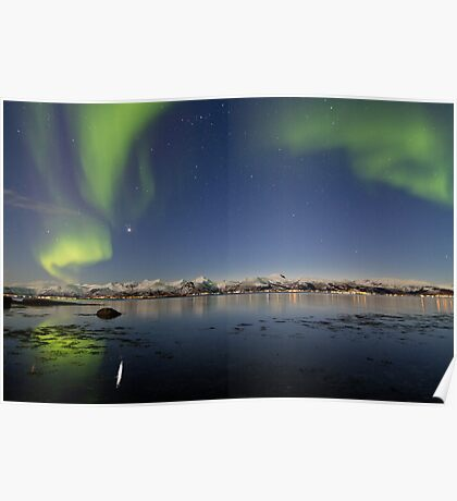 Auroras reflections Poster