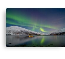 Aurora Borealis at Kattfjord Canvas Print
