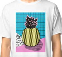 Grindage - pineapple fruit tropical pattern memphis style art print bright neon 1980 1980's 80's 80s Classic T-Shirt