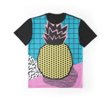 Grindage - pineapple fruit tropical pattern memphis style art print bright neon 1980 1980's 80's 80s Graphic T-Shirt