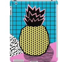 Grindage - pineapple fruit tropical pattern memphis style art print bright neon 1980 1980's 80's 80s iPad Case/Skin