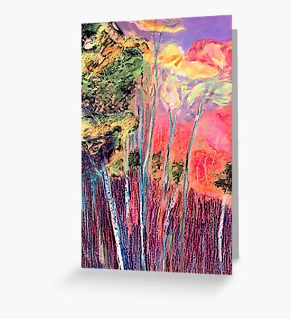 In The Colourful Woods Greeting Card
