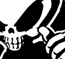 Blind skeleton. Sticker